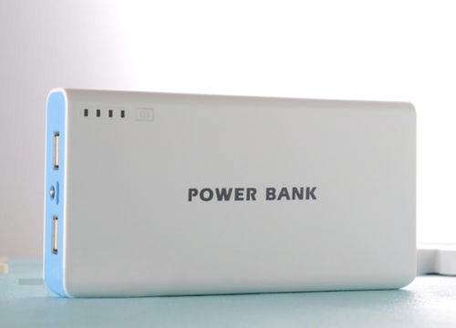 - 50000mah External Power Bank Backup Dual USB Battery Charger For Cell Phone Blue