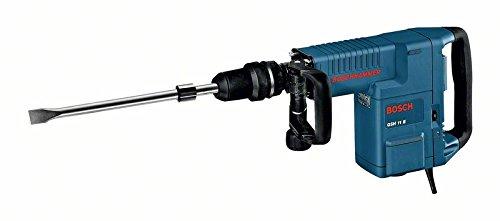 Bosch Professional GSH 11 E Schlaghammer mit SDS-max, Flachmeißel, 16,8 J Schlagenergie, 1.500 W, Koffer