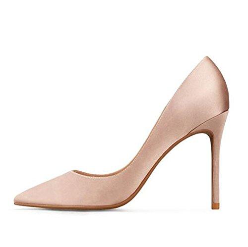 5 Discoteca UK 6 per Lavoro Scarpe Scarpe Professioni 39 Seta 10cm Sexy Tacco di Pink Sexy Raso da da Alto snfgoij EU Festa da Lavoro con Donna SF4wnH