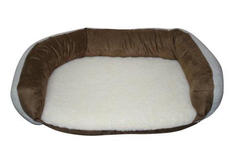 Reversible Bolster Beds - Casual Pet Products Reversible Bolster Bed, Large, Tan