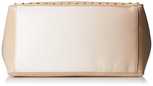 Nine West Hadley - Schultertasche per damen, beige/blanco, größe Einheitsgröße