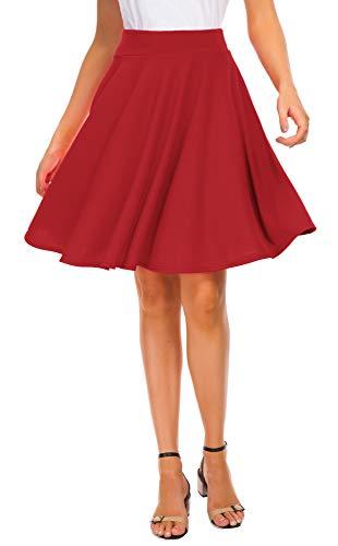 Women's Basic Skirt A-Line Midi Dress Casual