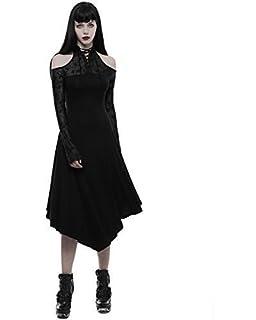 4f18583429fd Punk Rave Robe Gothique Noir pour Femmes Rose Corset Dentelle Victorien  Steampunk Vintage