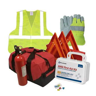 Safety and Trauma Supplies Hi-Viz All-in-One DOT OSHA Compliant Kit