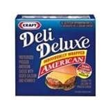 Kraft Deli Deluxe American Sliced Cheese, 12 Ounce - 12 per case.