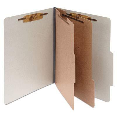 Classification Folders, 3 quot; Exp, Legal,2 Partition, Mist Gray
