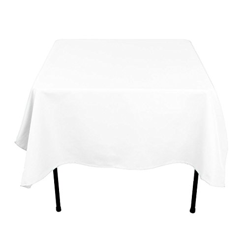 Gee Di Moda Square Tablecloth - 70 x 70 Inch - White Square Table Cloth for Square or Round Tables in Washable Polyester - Great for Buffet Table, Parties, Holiday Dinner, Wedding & More