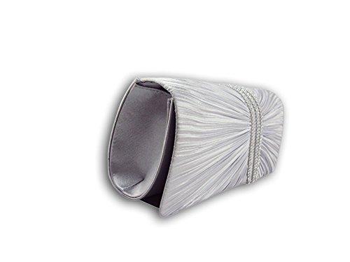 Shoulder evening Handbag Clutch Lady's Good XPGG Party 010 Bags bag Silver Bag gift zpqBWRxwC