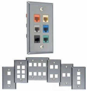 Telephone Tap Wall Plate (Allen Tel Products ATBKF-VT-2H Single Gang, 2 Ports Versatap Faceplate, Stainless Steel)