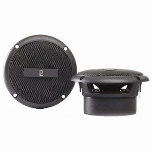 Poly-Planar Gray 3-Inch Round Flush Mount Speakers (Audio Speaker Mounts)