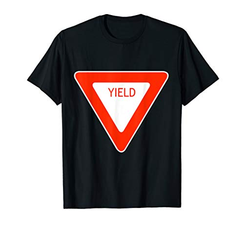 Yield Sign Simple Easy Halloween Costume T-Shirt -