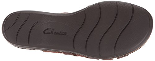 Flat Field Sandals Women's Clarks leather Leisa Brown Multi tqwRW7xz