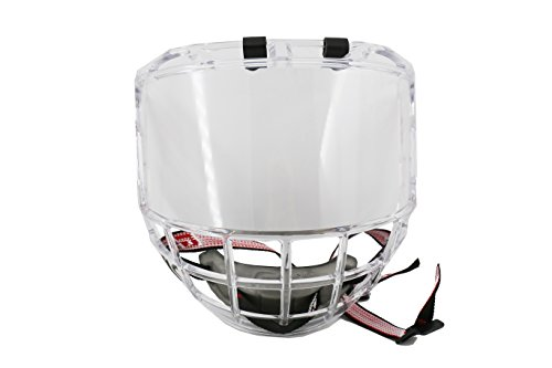 GY Thicken Polycarbonate Ice Hockey Mask Helmet Cage Strong impact Resistance Anti-fog on both sides View Sweeping with Light Weight Size Free