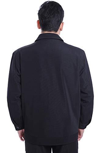 Puro Bavero Zevonda Stile Outwear Giacca Morbido Grigio Svago Poliestere Degli In Uomini Semplice Multitasche 01 Colore nTXSRTxp