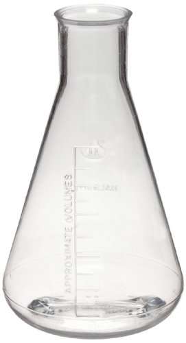 (Nalgene 4103-0250 Polycarbonate 250mL Graduated Erlenmeyer Flask (Pack of 6))