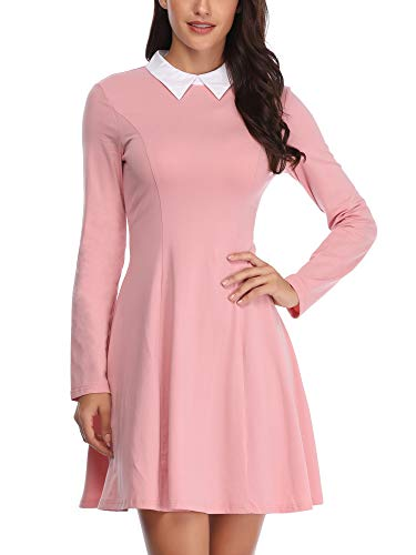 FENSACE Womens Peter Pan Collar Halloween Costumes for Women Pink