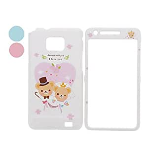 Lovely Bear Pattern Front and Back Full Body Case for Samsung Galaxy S2 I9100 (Assorted Colors) --- COLOR:Pink