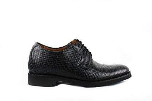 ZERIMAR Scarpe con Aumentato Interno di 7 cm Realizzata in Pelle di Alta Qualità Stile Casual 100% Pelle Colore Nero Taglia 41