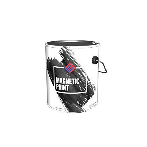 Magnetic Receptive Wall Paint/Dark Black Primer - One Quart.