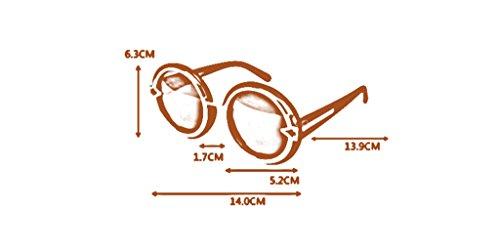 de Rondes Couleur Soleil de Mode Lunettes rétro de Lunettes 6 boîte la personnalité des de Soleil de 6 Grande Lunettes T60Ewq