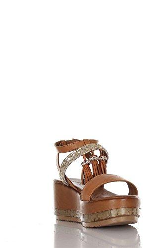 INUOVO 7388 Zapatos De Cuña Mujer Coconut