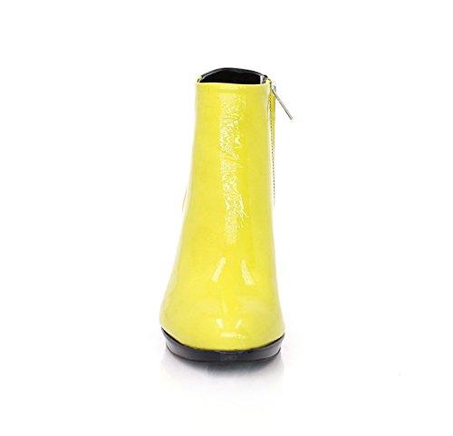 Stiefeletten80 Breiter Absatz 9cm Schwarze Rückseite Lemon