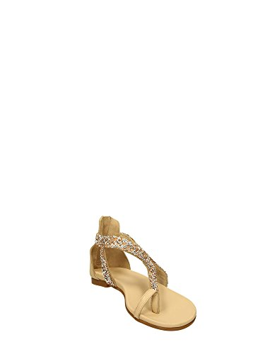 Inuovo - Sandalias de vestir para mujer Negro negro Beige-beige