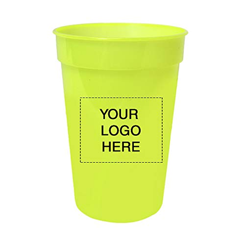 (17 oz. Smooth Stadium Cups by Promo Direct | 250 QTY | 1.07 Each | Customization Product Imprinted & Personalized Bulk with Your Custom Logo)