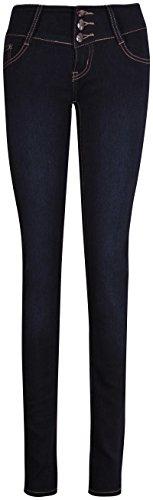 Basse Poche Clou Femmes Foncé Mesdames Jean Bleu Slip Haute Taille Maigre Pour Jambe Pantalon CAqw8