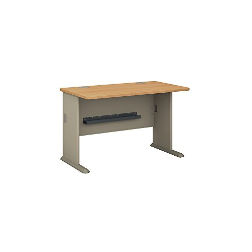 Bush Business Furniture Series A 48W Desk in Light Oak and Sage (Set Desk Series)