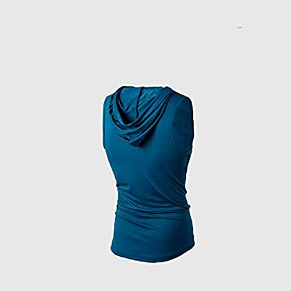 Binudum Mens Tank Tops Hooded Sleeveless Long Muscle Shirt Bodybuilding Workout Hoodie