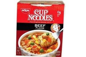 Nissin Cup Noodles (Beef Flavor) - 2.25oz [3 units] ()