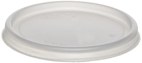 Dart 6JLNV Non-Vented Cup Lids For 6 Oz Cups, 2, 3-1/2, 4 Oz Food Containers, Plastic, Transparent (Case of - Dart Vented Lid