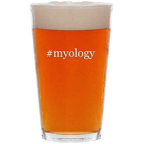 #myology - 16oz Hashtag All Purpose Pint Beer Glass (Myology Bcaa)