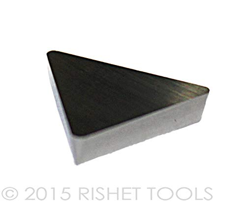 RISHET TOOLS 11292 TPG 322 C5 Uncoated Bright Finish Solid Carbide Inserts Pack of 10