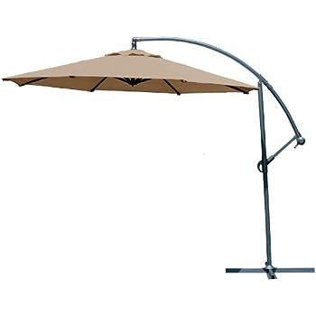 Amazoncom Coolaroo Foot Round Cantilever Freestanding Patio - Coolaroo 10 foot round cantilever freestanding patio umbrella mocha