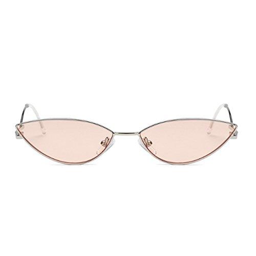 de Resin para Sunglasses Vintage Goggles Frame Retro Eye Cat Huicai mujer plástico Rosado lente wq6pFPc