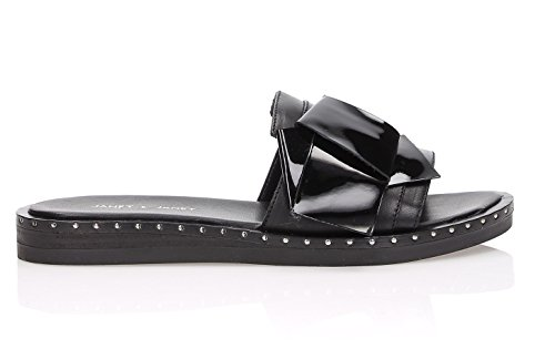 Sandalo amp; 36 41014 Pelle Janet Tg Nero SqH0TnZZf
