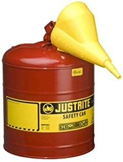 Product Conect 5 Gallon Justrite Type I Safety Can with Funnel - 11-1/2' x 17'