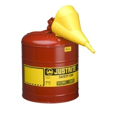 Product Conect 5 Gallon Justrite Type I Safety Can with Funnel - 11-1/2\' x 17\'
