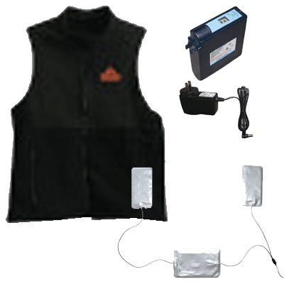 Techniche IonGear Battery Powered Heating Vest, Small, Black