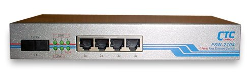 (Fast Ethernet switch 4+1 fiber ports, unmanaged, SC 2Km multi-mode fiber port)