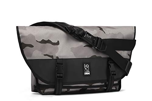 Chrome Industries Citizen Messenger Bag - Simple & Durable Satchel Bag | Keep Cargo Secure With Our Iconic Seat Belt Buckle | 26L - Desert Camo ()
