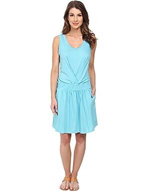 Lacoste Womens Sleeveless Slub Fit & Flare Tank Dress