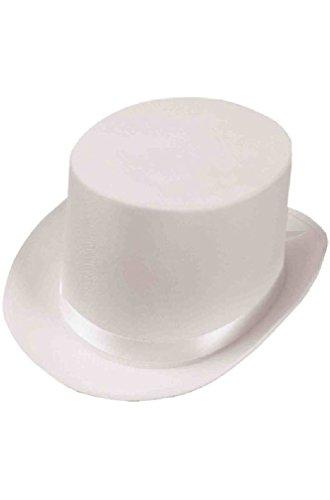 8eighteen Deluxe Satin Top Hat (White) (White Satin Top Hat)