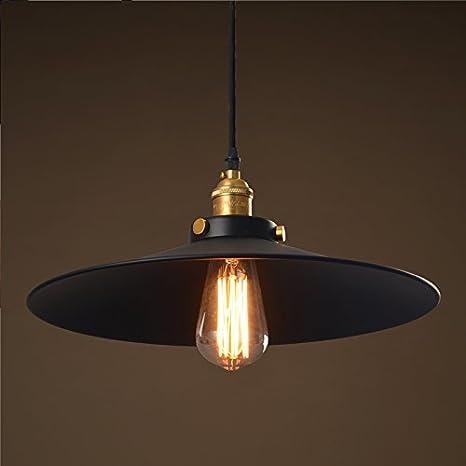 QUIETNESS @ IKEA Retro Industrial Wind pequeñas negras Rock kronleuchtern moderna, minimalista individuales Faro 360 mm * 300 mm creativos – Lámpara de techo para niños Dormitorio Comedor Salón Almacenamiento 220 V-240 V: Amazon.es: Iluminación