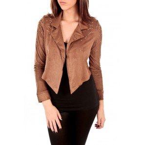 Veste femme couleur marron
