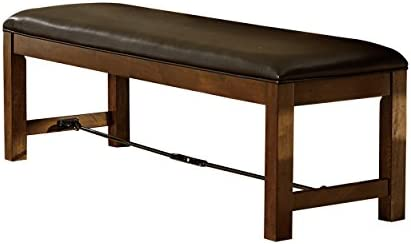 Homelegance Urbana 60 Seating Bench with Bi-Cast Vinyl Cover and Metal Buckle Accent, Brown