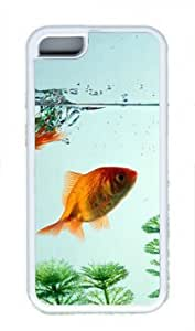 Beautiful Golden Fish Thanksgiving Rubber(TPU) white Case for Masterpiece Limited Design iphone 5c iphone 5c by Cases & Mousepads
