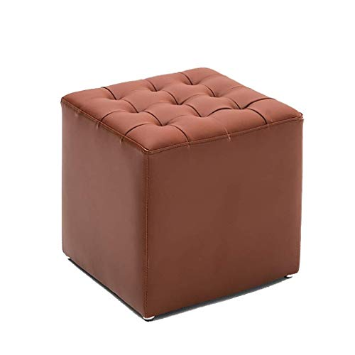 Awesome Amazon Com Footstool Leather Small Seat Stool Foot Rest Dailytribune Chair Design For Home Dailytribuneorg